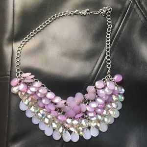 Fish scale purple lavender necklace Maurice's